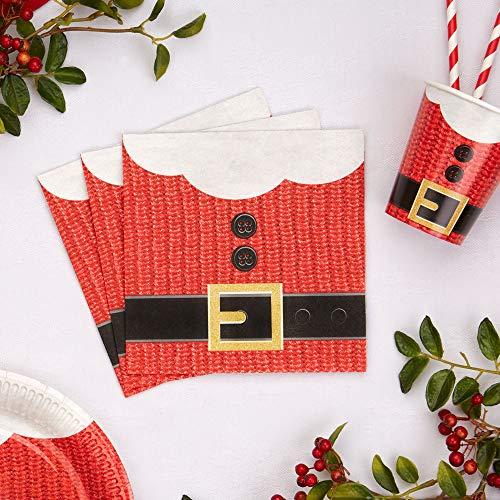 Premium Weddings Servietten Weihnachten Santa Claus 16 Stück - Servietten Nikolaus Weihnachtsmann