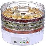 SHKUU Máquina deshidratadora Alimentos con deshidratador 5 bandejas para Carne, Frutas, Verduras y champiñones, secador Alimentos eléctrico Werature Control