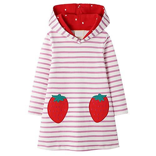 VIKITA Toddler Girls Dresses Christmas Penguin Long Sleeve Girl Dress for Kids 3-8 Years JM7167, 6T
