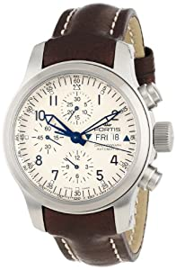 Fortis Men's 635.10.12 L.16 B-42 'Pilot Professional' Stainless Steel Watch with Brown Leather Band image