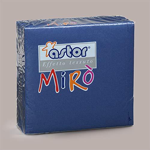 LUCGEL Srl 80 Pezzi Tovaglioli di Carta Colorati BLU MIRO' ASTOR 38x38 Blue Napkins