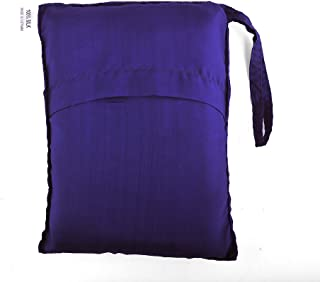 Purple Blue 100% Pure Mulberry Silk Single Sleeping Bag Liner Travel Sheet Sleepsack 83