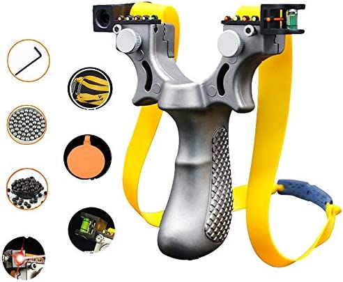 SZW Stainless Steel Hunting Laser Slingshot The Most Powerful Professional Outdoor Slingshot product image