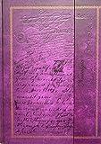 Tagebuch'Edle Schriften' Notizbuch Din A4 blanko Hardcover Magnetverschluss & Prägung gebunden purple-violett Vintage-Look
