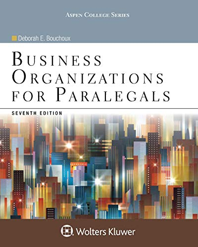 Business Organizations for Paralegals (Aspen College)