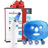 Empyreus Blackhead Vacuum Remover Kit Advanced Blue Light Pore Cleaner Technology. Face Cleanser Tool For Men And Women. Easy Skin Care Routine For Facial Rejuvenation. Skin Soothing Gel Mask Included
