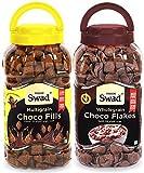 Choco Flakes & Choco Fills Combo of 2 Jars (Healthy Chocolate Chocos Wholegrain Cereals) Jar 720 g