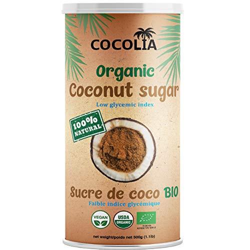 COCOLIA Sucre de Coco - 100% BIO - Faible Indice Glycémique