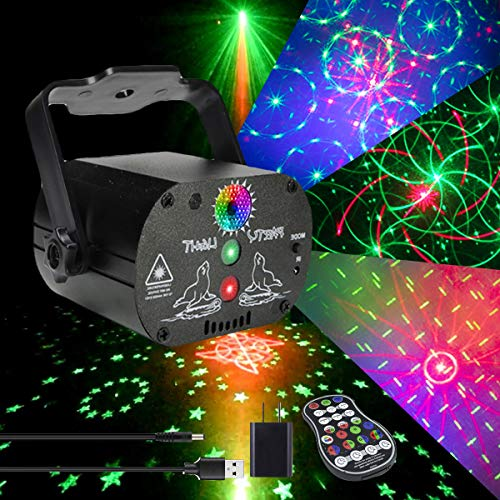 AKEPO Party Light Laser Lights Projector Music Activated Battery Powered...