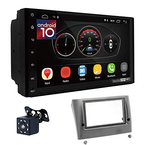 UGAR EX10 7' Android 10.0 DSP Navigazione GPS per Autoradio + 11-059 Kit di Montaggio Compatibile con Fiat Stilo 2001-2007