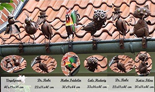 BURI Dachrinnenfiguren 6er-Set Dachschmuck Zaunfigur Dachfigur Zaunschmuck Gartendeko