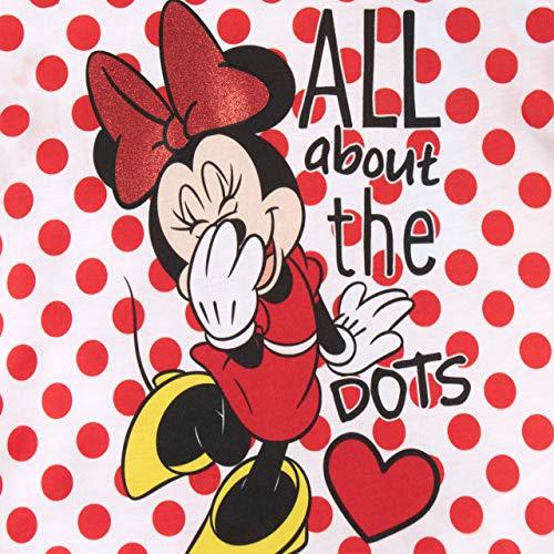 Disney Pigiama a Maniche Corte per Ragazze Topolina Rosso 3-4 Anni