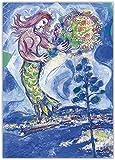 《Pino sirena》 Arte de la lona Pintura al óleo Obra de arte Póster Imagen decorativa Decoración Decoración del hogar-40cm x 60cm Sin marco