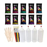 Sidewalk Chalk Paint Kit by Chameleon Colors, 10 Vibrant Colors, Outdoor Chalk Paint with Included Paint Accessories, Sidewalk Chalk Sets for Kids, Driveway Chalk, DIY Sidewalk Chalk Paint