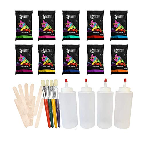 Sidewalk Chalk Paint Kit by Chameleon Colors - 10 Vibrant Colors of Outdoor Chalk Paint with Included Paint Accessories, Sidewalk Chalk Sets for Kids, Driveway Chalk, DIY Sidewalk Chalk Paint
