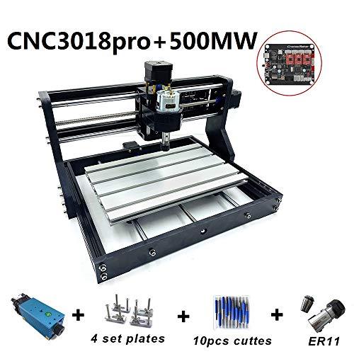 Upgrade CNC 3018 Pro GRBL DIY CNC Maschine, 3 Achsen PVC Platine Fräsmaschine, Holz-Router Gravur mit 500 mw las * r und Verlängerung