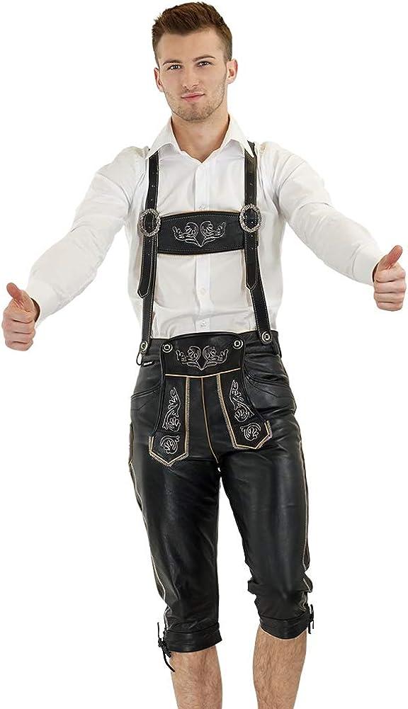 Bockle Germany Gay Lederhose Bavarian 定番キャンバス Trousers 正規認証品 新規格 Pan Black Leather