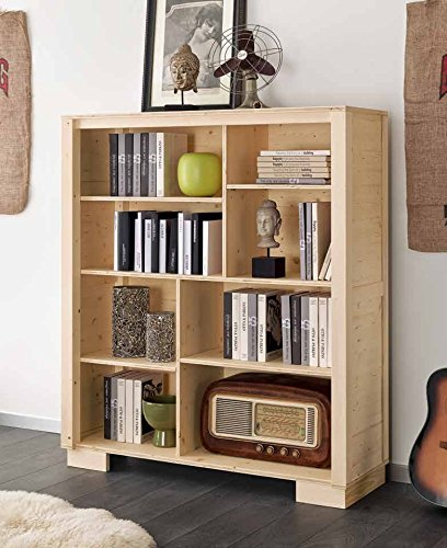 Bibliothèque moderne 8 casiers en bois massif