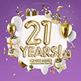 21 Years - Guest Book: Great for 21st Birthday Gifts & Decorations - Purple Birthday Party Decor & Gift Idea for him or her - 21 Years - Violet Lilac ... for Messages to treasure and Photos of Guests
