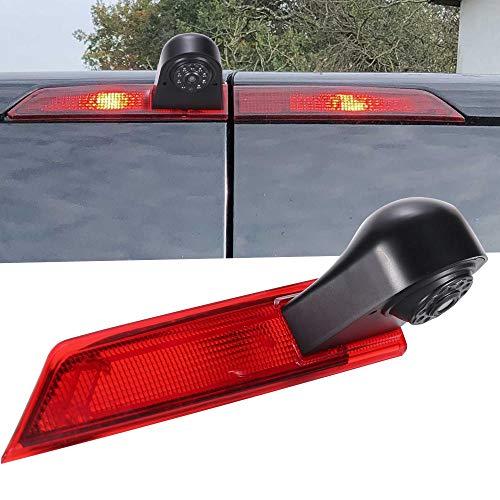 Rückfahrkamera Transporter mit Bremslicht Bremsleuchte, wasserdichte Nachtsich HD Auto Rückfahrkamera für Ford Transit Custom 2012-2016 Van