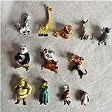 Regalos de Cumpleaños 12pcs / Set Kung Fu Panda Monster Shrek Acción Gráfico Juguete Modelo...