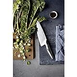 WMF Chef's Edition Messerblock mit Messerset 6teilig, Spezialklingenstahl, 4 Messer geschmiedet, Schere, Block-Bambus, Kunststoff, Edelstahl, Performance Cut - 11