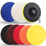 Best Buffing Pads - Benavvy 9pcs Polishing Pads Kit, 7 Inches Large Review