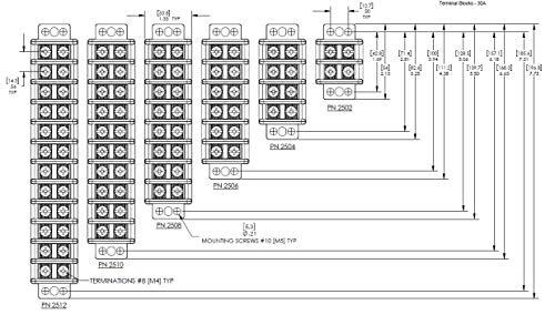 Blue Sea Systems Terminal Blocks 20A - 65A