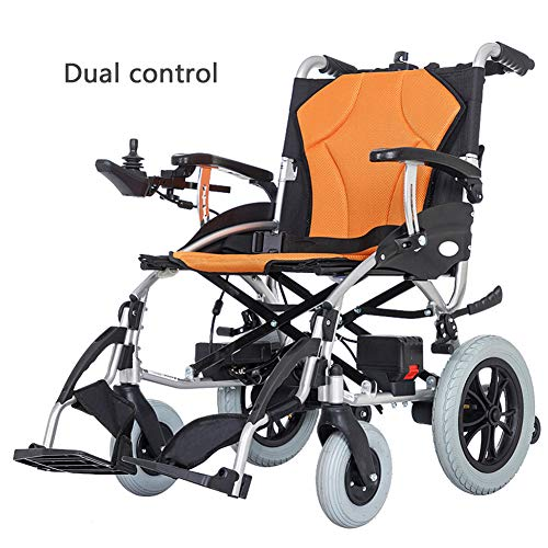 Best Prices! Wheelchair Electric, Foldable Power Compact Mobility Aid Wheel Chair, Lightweight Elect...