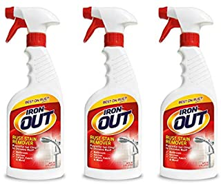 IRON OUT Rust Stain Remover Spray Gel, 16 Fl. Oz. Bottle 3-Pack