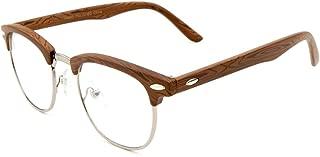 Bamboo Wooden Glasses for Men Women Retro Vintage Clear or Dark Lens