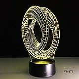 Abstraktes grafisches Nachtlicht 7 Bunte Notenlampentischlampen-Nachttischlampe dekorative Lavalampe für Kinder 3 Regler
