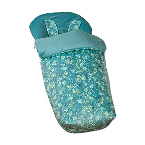 Babyline Garden - Saco de silla con manoplas, unisex, color verde