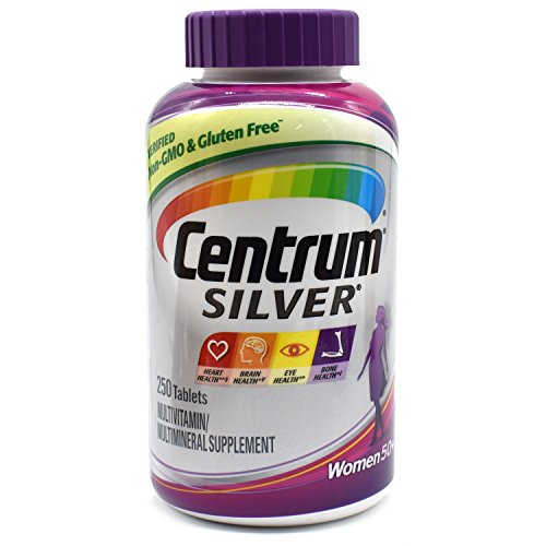 Centrum Silver Women's 50+ Multivitamin and Multimineral Supplement Tablets, 250 ct.