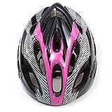QiKun-Home Casco de Ciclismo de Bicicleta de montaña Casco de montaña Transpirable Hueco Casco de Seguridad de Fibra de Carbono Casco de Ciclismo al Aire Libre Negro y Rosa