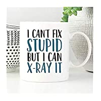 おかしい放射線技師マグは、私は愚かなしかし、私はできXレイまた、放射線マグカップ、放射線技術者、X線技術者マグカップを修正することはできません