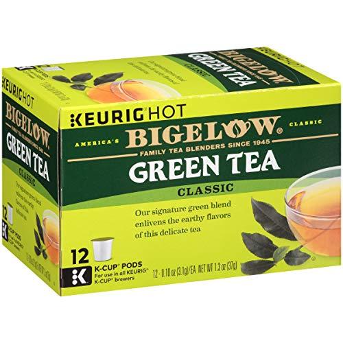 Bigelow Green Tea Keurig K-Cup Pods, Box of 12 Cups (Pack of 6) Caffeinated Green Tea, 72 K-Cup Pods Total