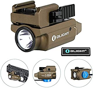 OLIGHT PL-Mini 2 Valkyrie 600 Lumens Magnetic USB Rechargeable Compact Weaponlight with Adjustable Rail