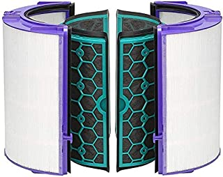 Goodern Replacement Filter & Activated Carbon Filter Compatible with Dyson HP04 TP04 DP04 Sealed Two Stage 360° Filter Sys...
