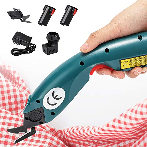 CGOLDENWALL Portable Electric Cloth Fabric Cutter Cordless Electric Scissors Cordless Rotary Shear Battery Rechargeable Leather Shears Cloth Cutting Machine YJ-C1 100-240V