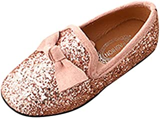 WINJIN Bebe Fille Chaussures en Cuir Bebe Fille Ballerine de Princess Chaussure de Marche pour Fille Bebe Chaussures Simpl...