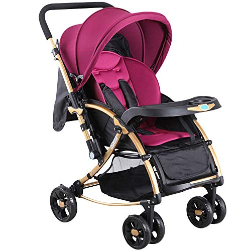 Great Features Of WYANAN Baby Stroller Ultra-Light Bi-Directional Folding Reclining Convertible Crad...