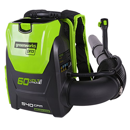 Greenworks Pro 60-Volt Max Lithium Ion 540-CFM 140-MPH Heavy-Duty Brushless Cordless Electric Backpack Leaf Blower (Tool ONLY, Battery and Charger Not Included)