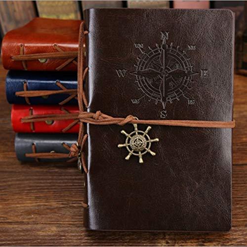 Anclas piratas Vintage Cuaderno de notas de cuero de la PU Papelería reemplazable RegaloEspiralDiario Bloc de notas Núcleo interno reemplazable