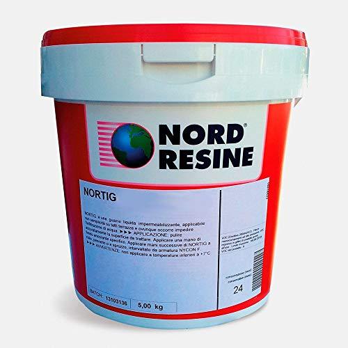 Guaina liquida impermeabilizzante Nortig/C Nord Resine, col. grigio, kg. 1,5