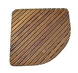 SeaTeak 60023 Shower Mat (Triangular)- Oiled Finish