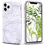 KOUYI iPhone 11 PRO Max (6,5 Pollici),Custodia Marmo Design Protettiva Guscio Soft Case Bumper Sottile Slim Fit TPU Gel Morbida Cover per Apple iPhone 11 PRO Max (Bianca)