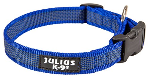 JULIUS-K9 220CG-B Color & Gray Halsband, 20mm*27-42 cm, verstellbar, blau-grau