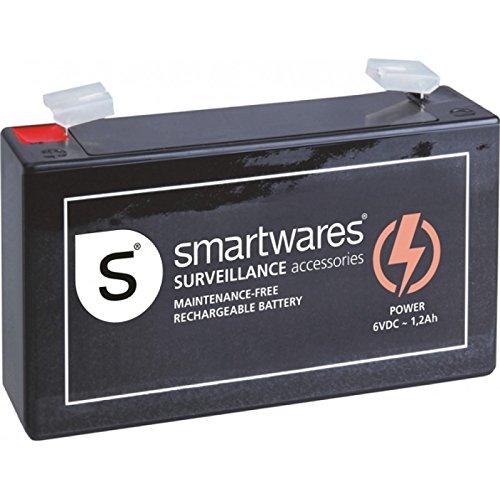 Smartwares SA6V oplaadbare accu, 6 V, zwart