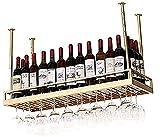 ZJYWMM Estante para vinos Estantes para Vino de Techo, Bar, Restaurante, Estante para Copas de Vino, Colgante para Colgar en el hogar y Soporte para Vidrio, Soporte de exhibición de botel